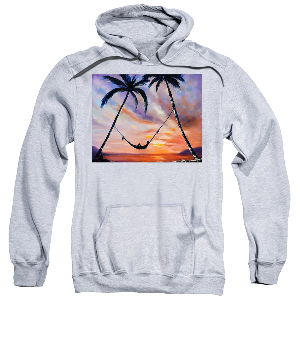 Sunset Sweatshirt featuring the painting Living The Dream by Gina De Gorna