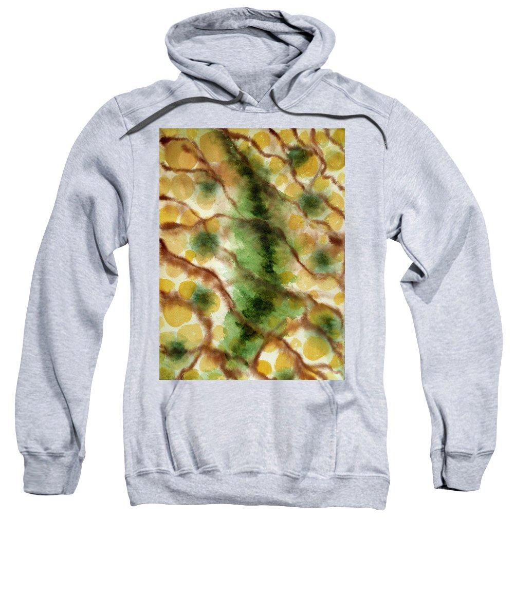 Lizard Sweatshirt featuring the painting Lizard Skin Abstract by Irina Sztukowski
