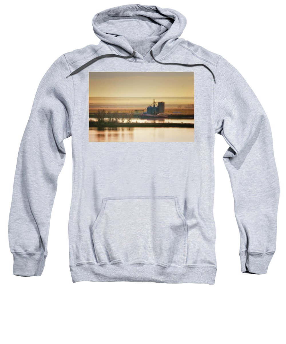Eastern Oregon Sweatshirt featuring the photograph Loading Grain by Albert Seger