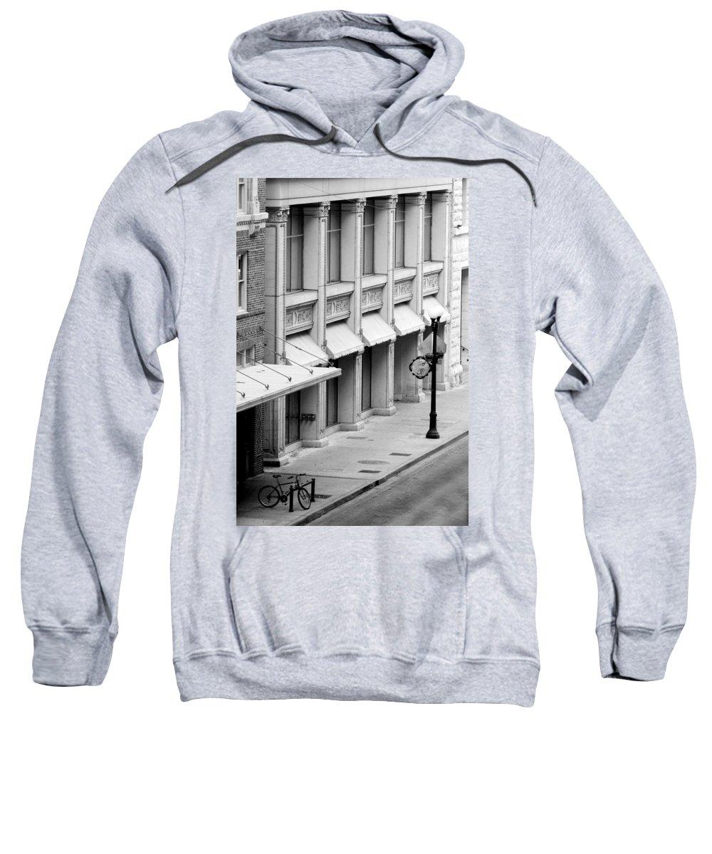 Architecture Sweatshirt featuring the photograph Loan Bike by Jill Reger