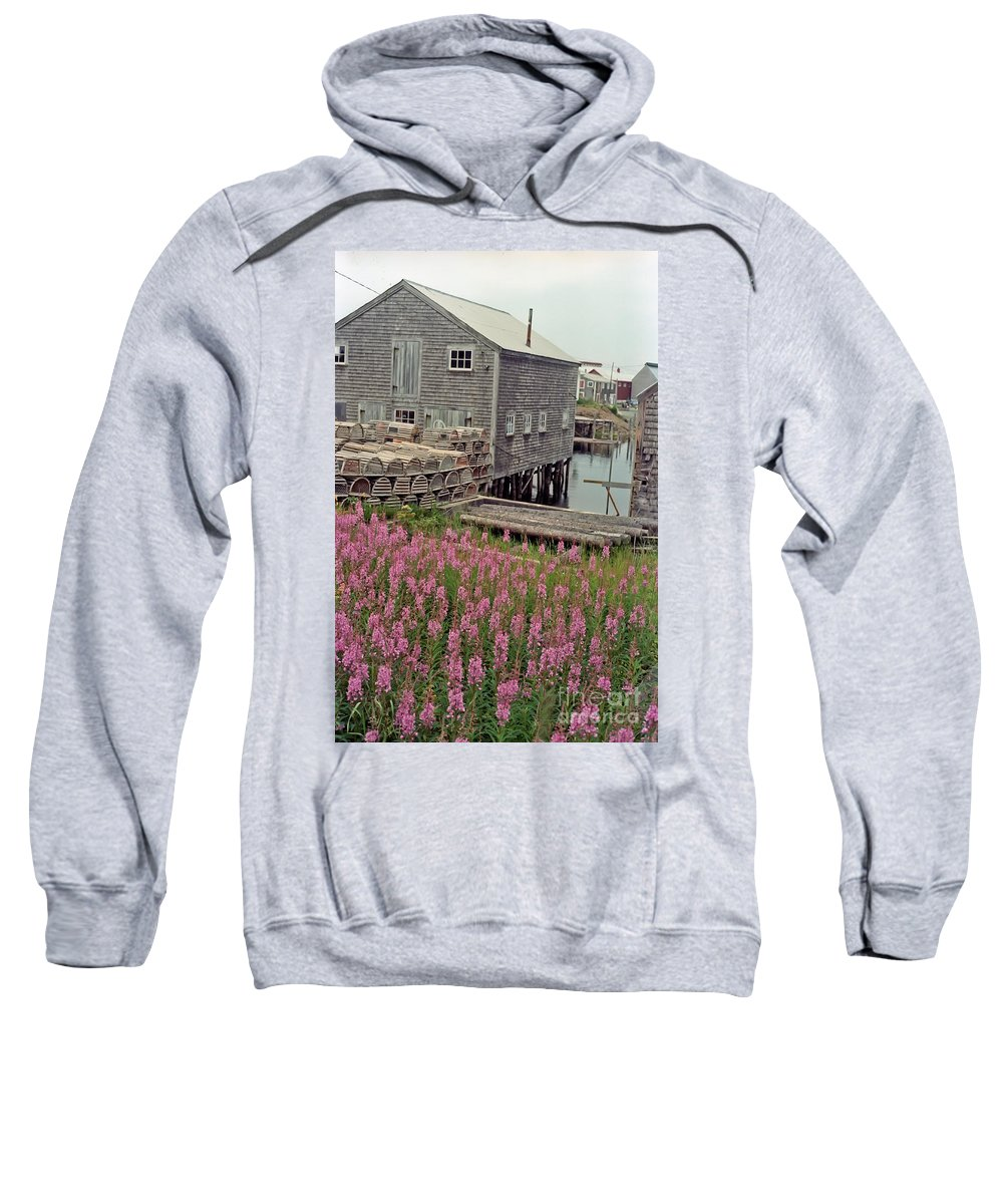 Lobster Sweatshirt featuring the photograph Lobster House Grand Manan by Thomas Marchessault