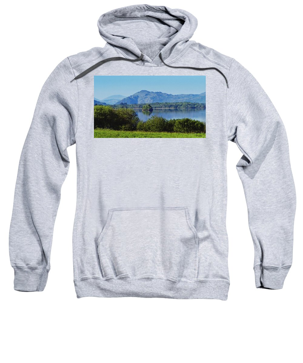 Irish Sweatshirt featuring the painting Loch Leanne Painting Killarney Ireland by Teresa Mucha