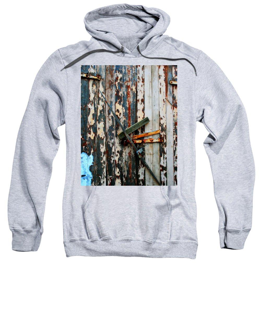 Door Sweatshirt featuring the photograph Locked Door by Perry Webster