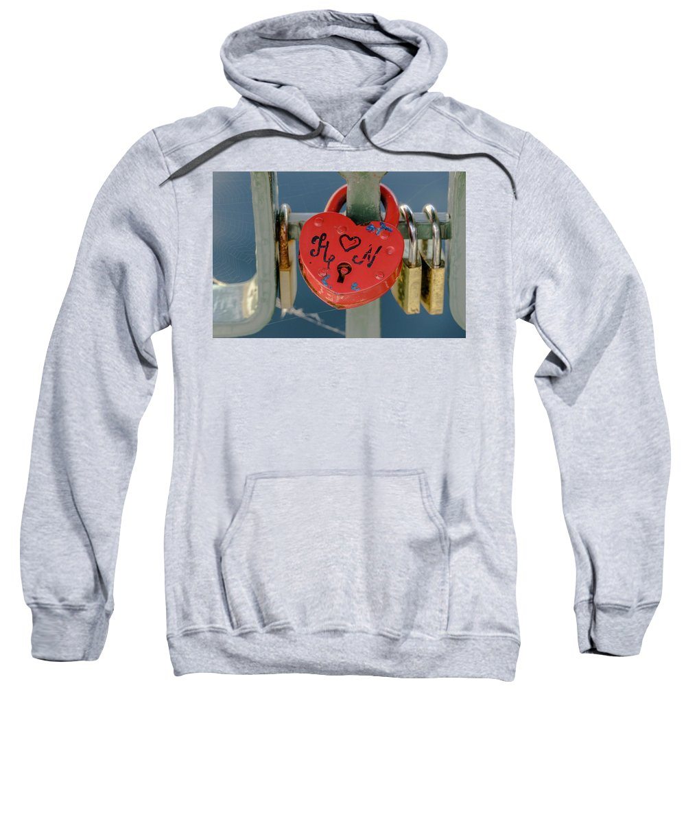 Stockholm Sweatshirt featuring the photograph Locked Love by Joie Cameron-Brown