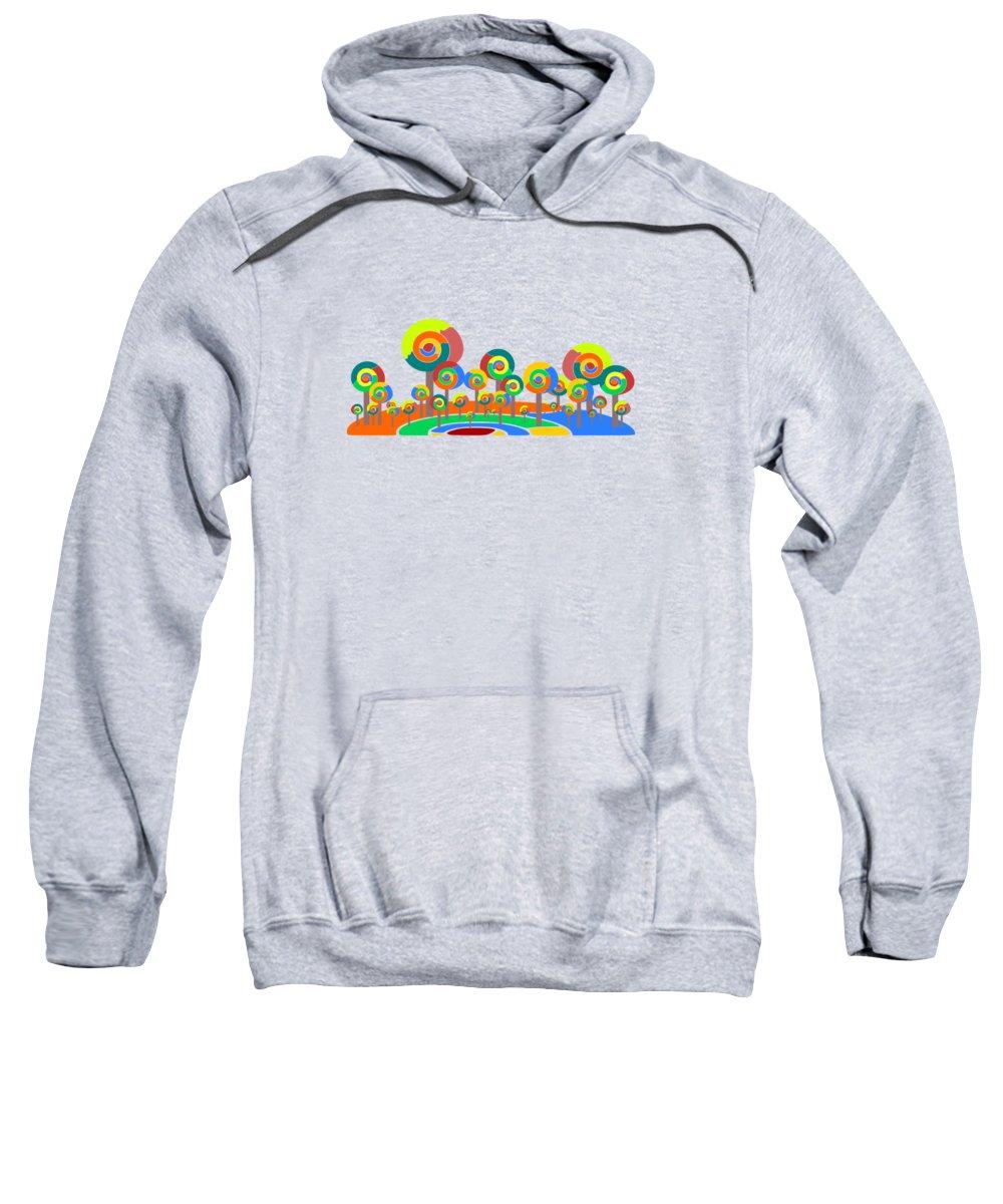 Malakhova Sweatshirt featuring the digital art Lollypop Island by Anastasiya Malakhova