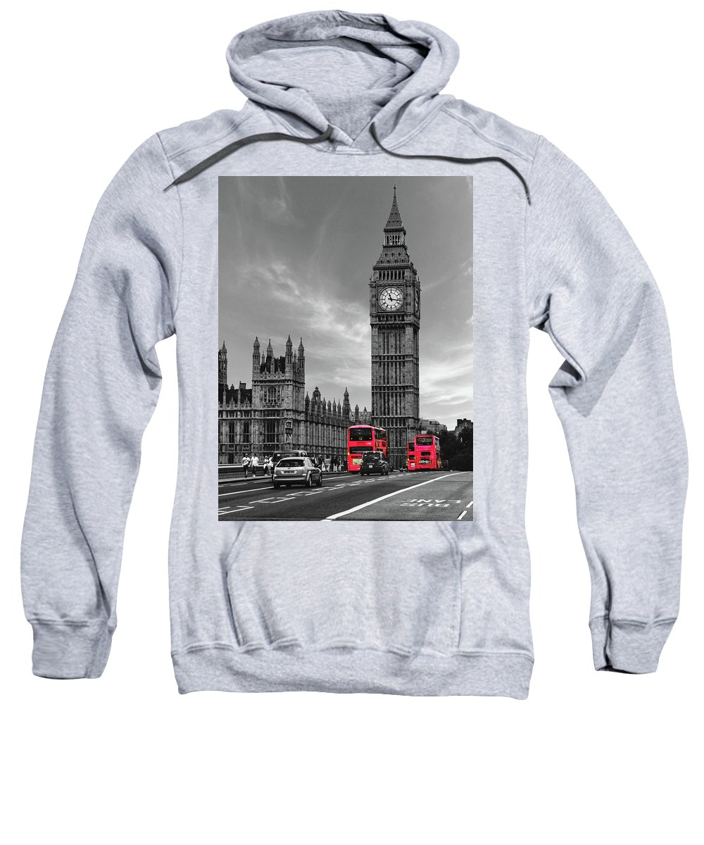 London Sweatshirt featuring the photograph London Buses by Martin Newman