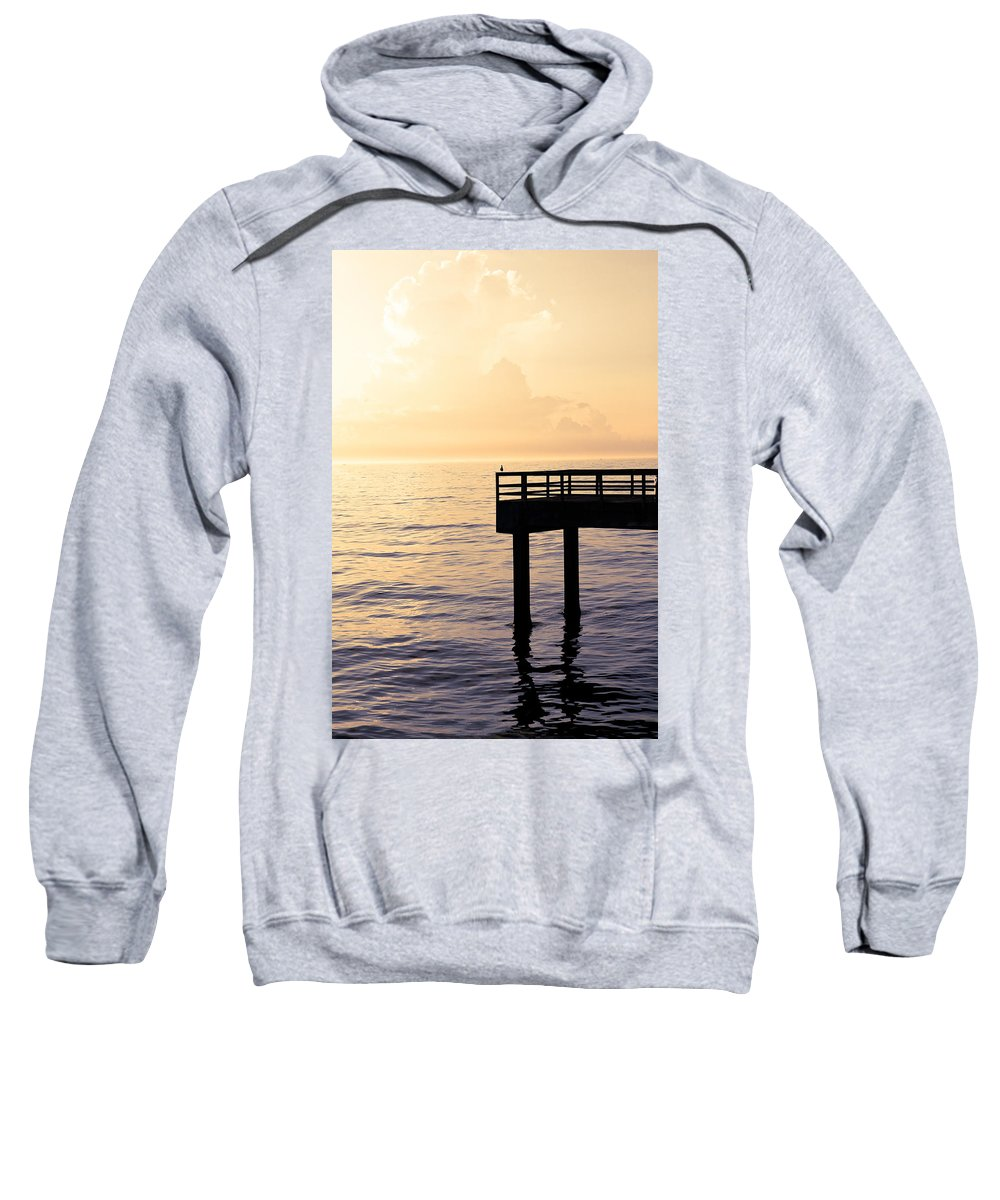 Beach Sweatshirt featuring the photograph Lone Bird At Morning by Marilyn Hunt
