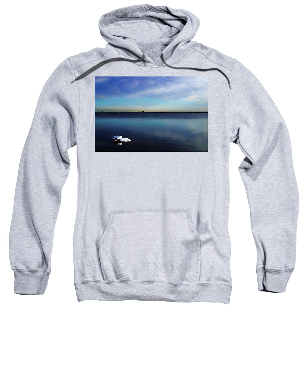 Landscape Sweatshirt featuring the photograph Lone Ice by Anthony Jones