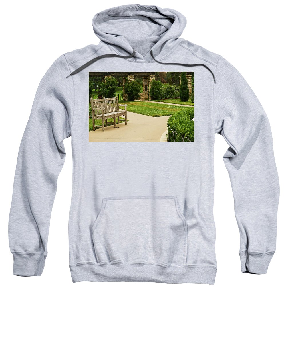 Landscape Sweatshirt featuring the photograph Lonely Bench by Cordell McDonald