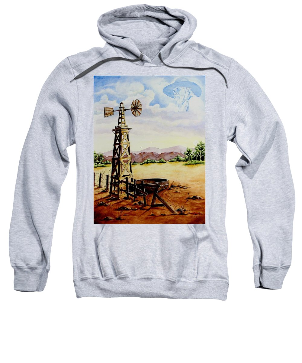 Actor Sweatshirt featuring the painting Lonesome Prairie by Jimmy Smith