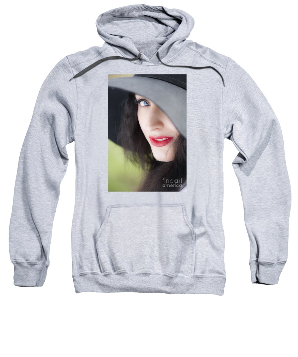 Woman Sweatshirt featuring the photograph Look by Lasse Ansaharju