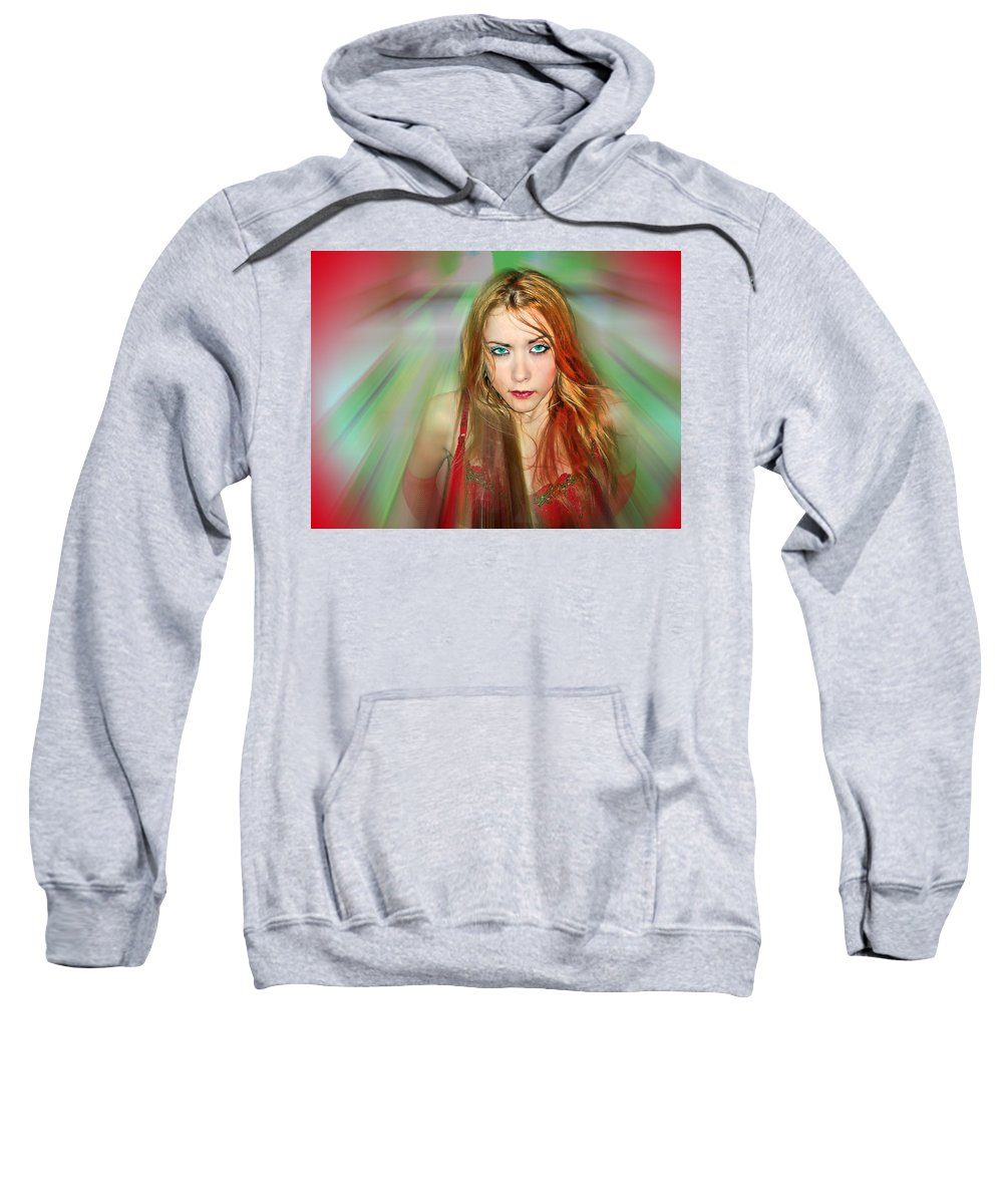 Women Sweatshirt featuring the photograph Looking At You by Francisco Colon