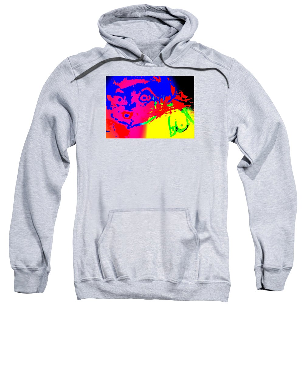 Horse Sweatshirt featuring the painting looking at you I can see only myself by Hilde Widerberg