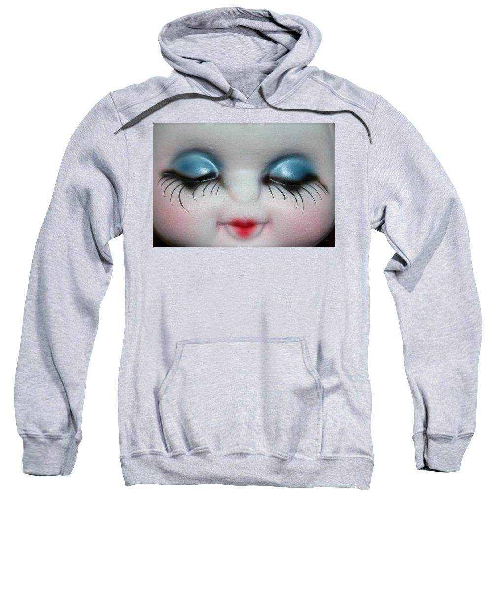 Face Sweatshirt featuring the photograph Looking Bashfully by Deborah Crew-Johnson