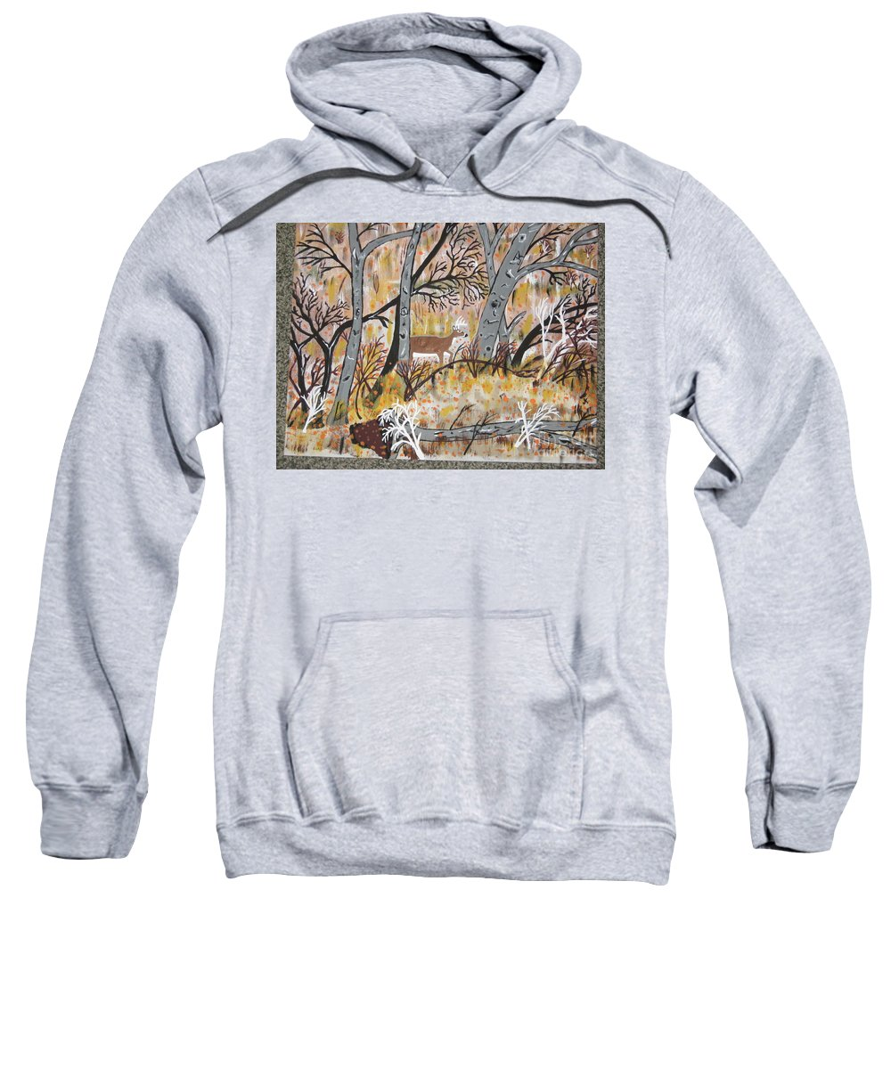 Deer Sweatshirt featuring the painting Looking For Love by Jeffrey Koss