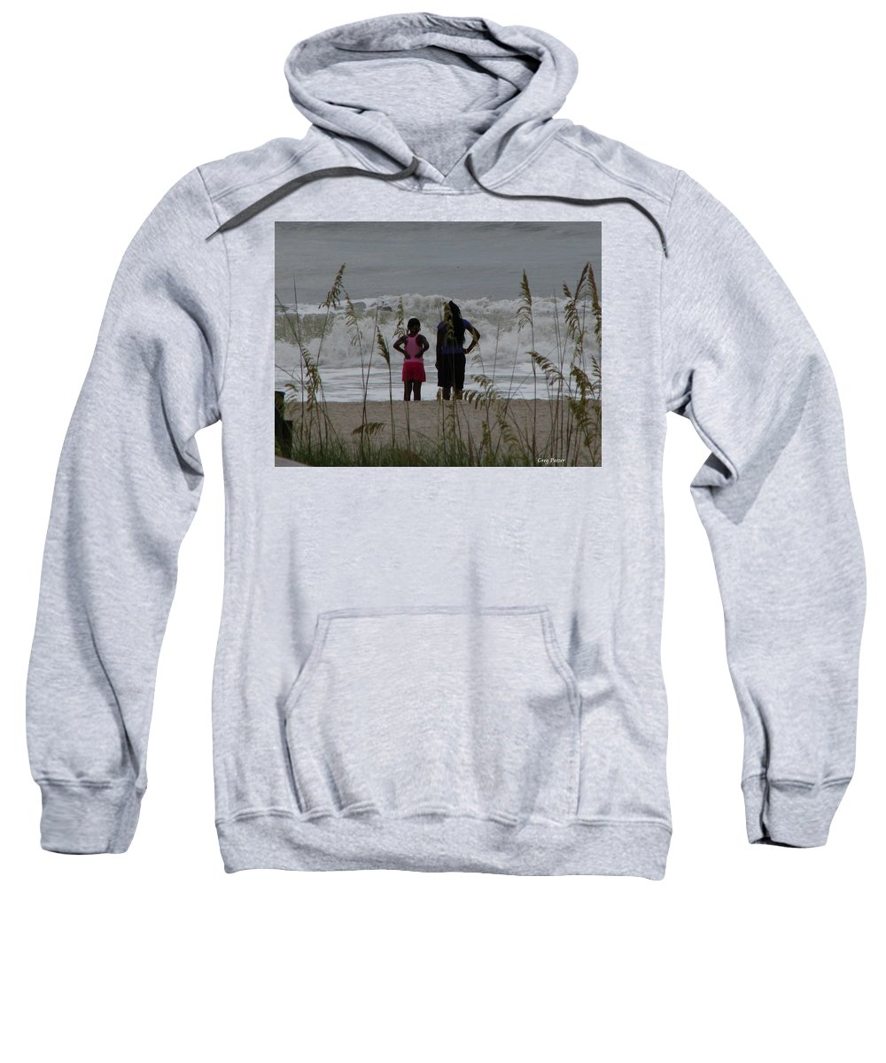 Patzer Sweatshirt featuring the photograph Looking by Greg Patzer