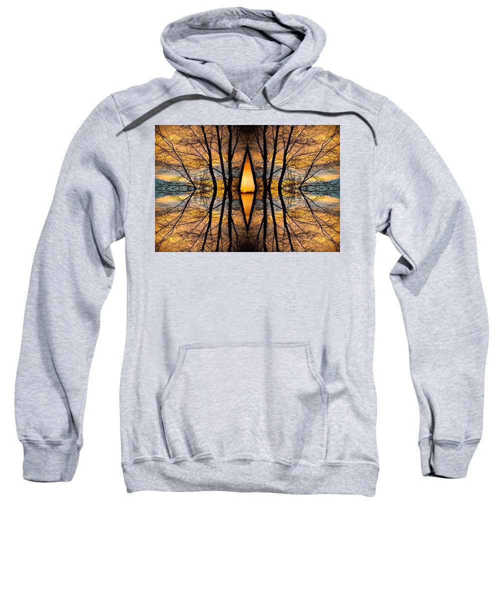 Sunsets Sweatshirt featuring the photograph Looking Through The Trees Abstract Fine Art by James BO Insogna