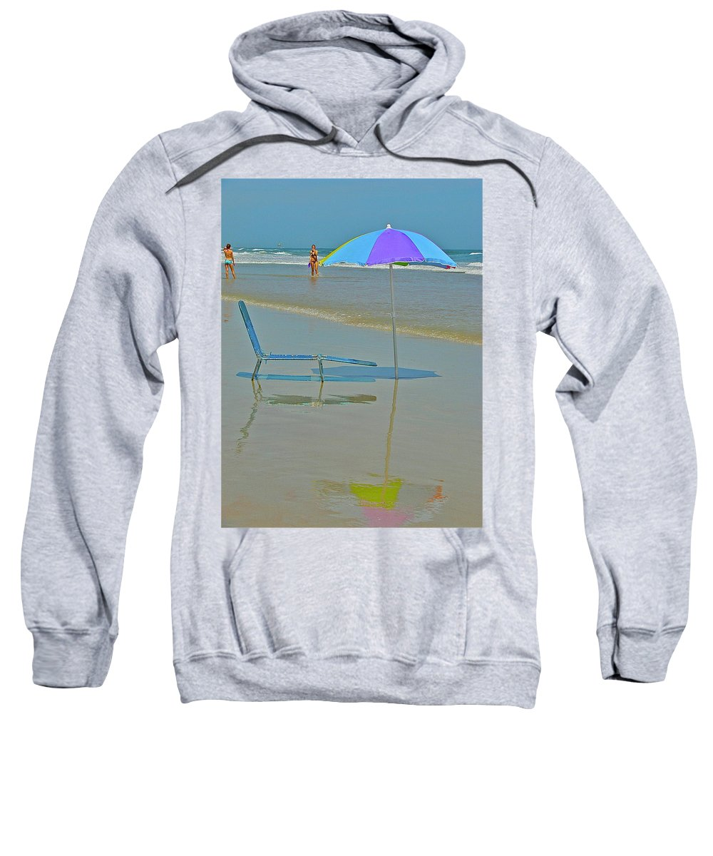 Beach Sweatshirt featuring the photograph Looks Inviting by Diana Hatcher