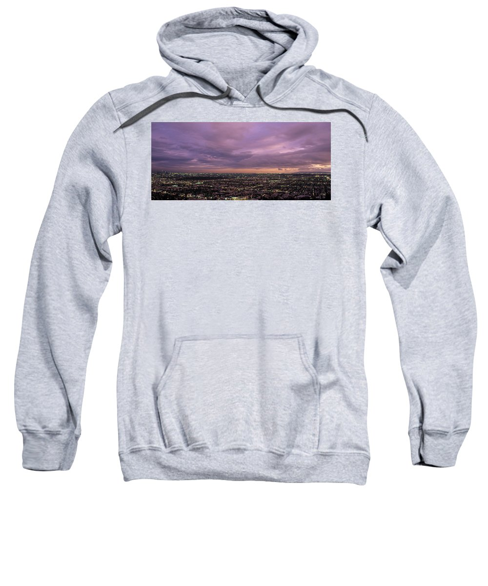 Los Angeles Sunset Sweatshirt featuring the photograph Los Angels Sunset by Steve Williams