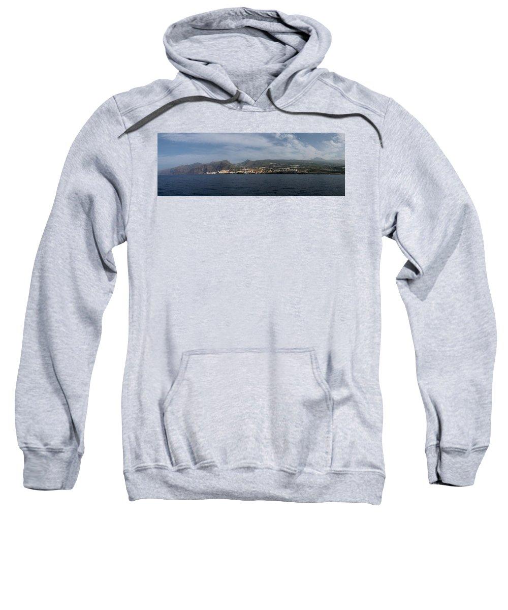 Valasretki Sweatshirt featuring the photograph Los Gigantes Panorama 2 by Jouko Lehto