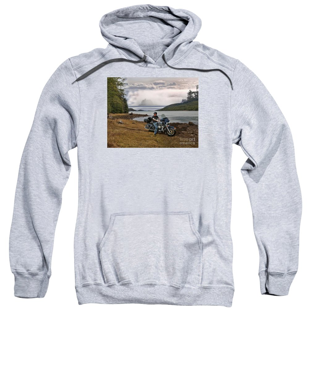 Water Sweatshirt featuring the photograph Lost At Sea by Vivian Martin