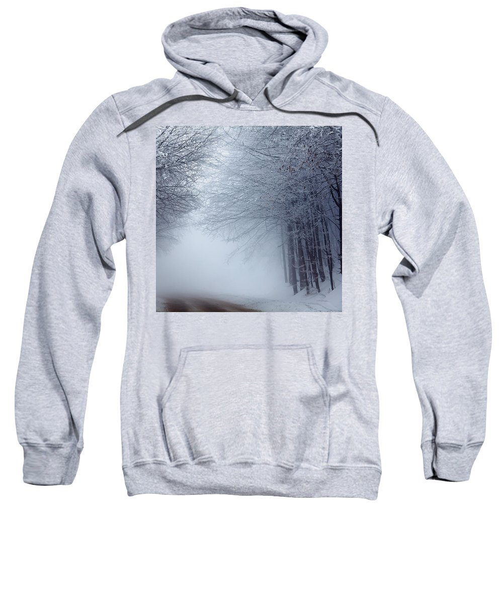 Fog Sweatshirt featuring the photograph Lost Way by Evgeni Dinev
