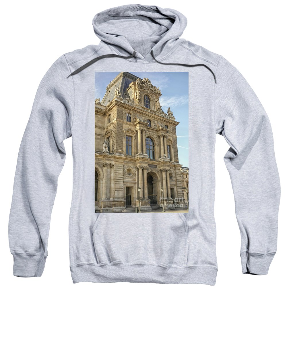 Ancient Sweatshirt featuring the photograph Louvre In Paris by Patricia Hofmeester