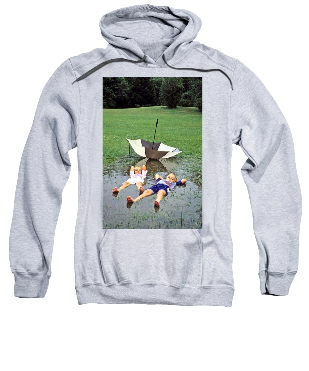 Children Sweatshirt featuring the photograph Love A Rainy Day Series by Laurie Paci