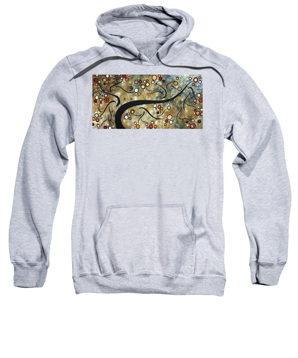 Art Sweatshirt featuring the painting Love And Laughter By Madart by Megan Duncanson