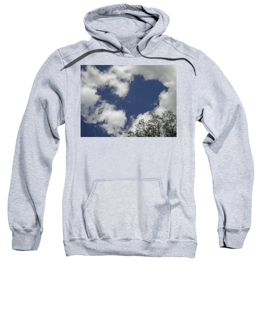 Sky Sweatshirt featuring the photograph Love From Above by T Cook