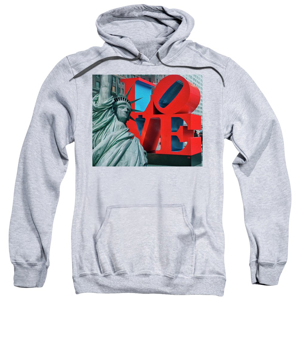 New York Sweatshirt featuring the photograph Love New York by Dorival Moreira