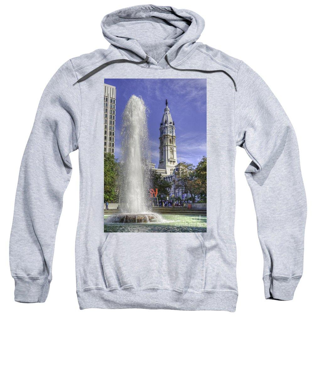 Jfk Plaza Sweatshirt featuring the photograph Love Sculpture Philadelphia by David Zanzinger