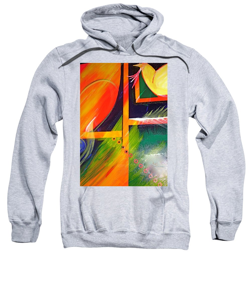 Love Sweatshirt featuring the painting Love Song by Sheila J Hall