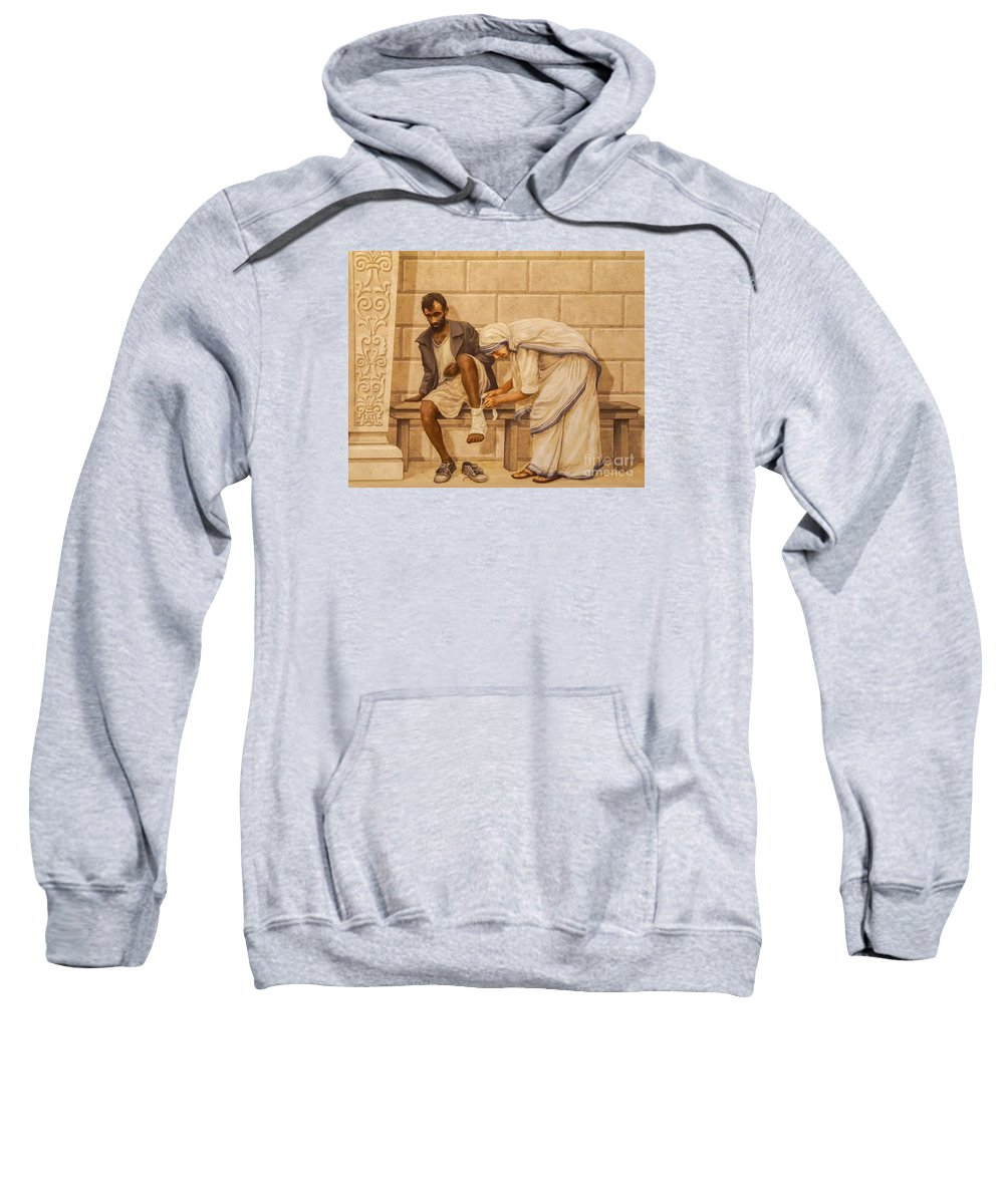 Love Your Neighbor Sweatshirt featuring the photograph Love Your Neighbor by Priscilla Burgers
