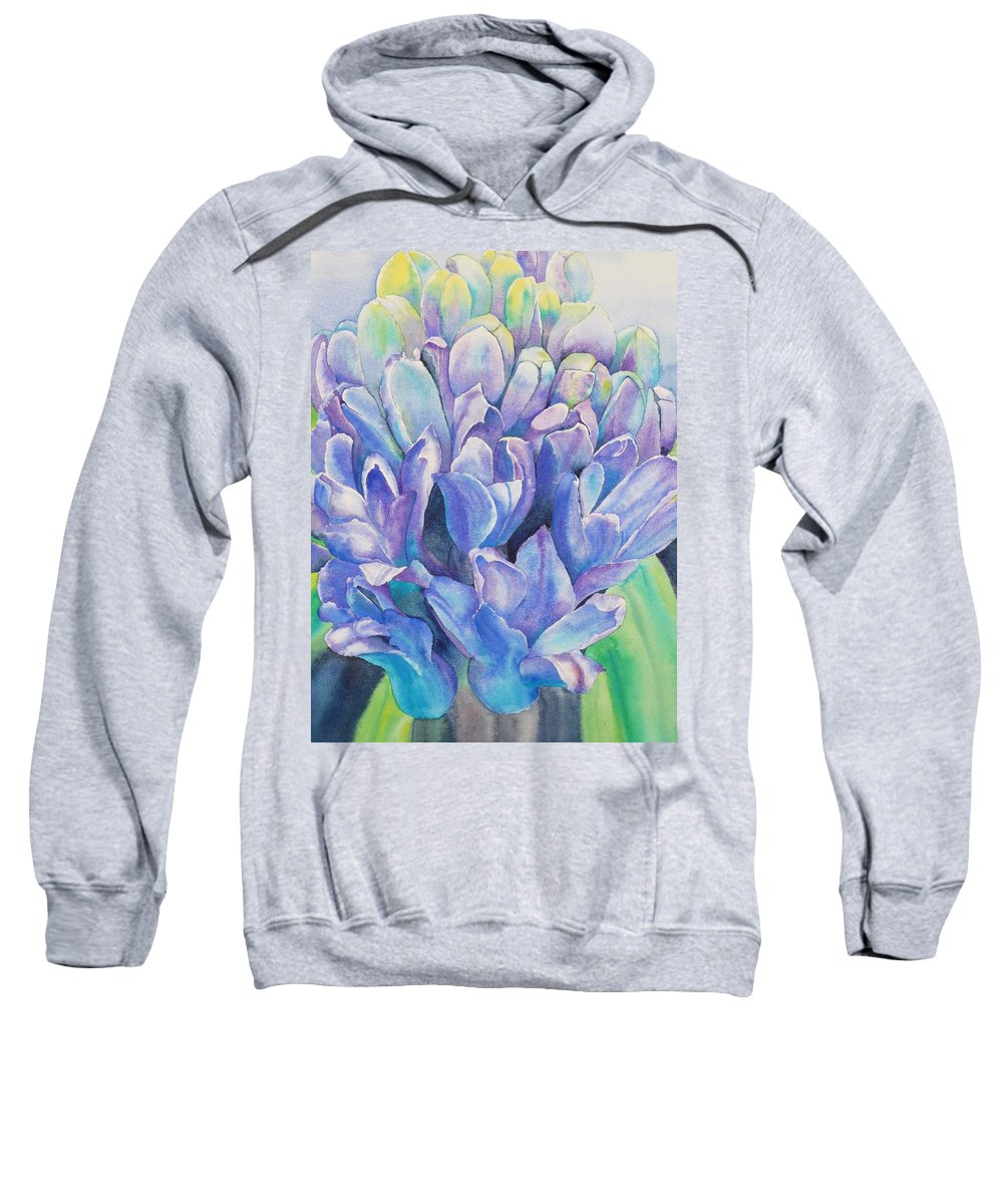 Flower Sweatshirt featuring the painting Lovely Lupine by Ruth Kamenev