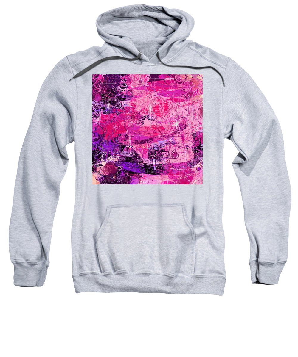 Abstract Sweatshirt featuring the digital art Lovers by Rachel Christine Nowicki