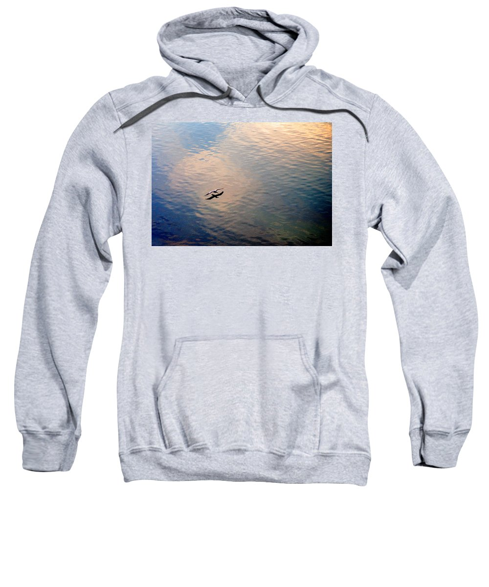 Pelican Sweatshirt featuring the photograph Low Flight by Mal Bray