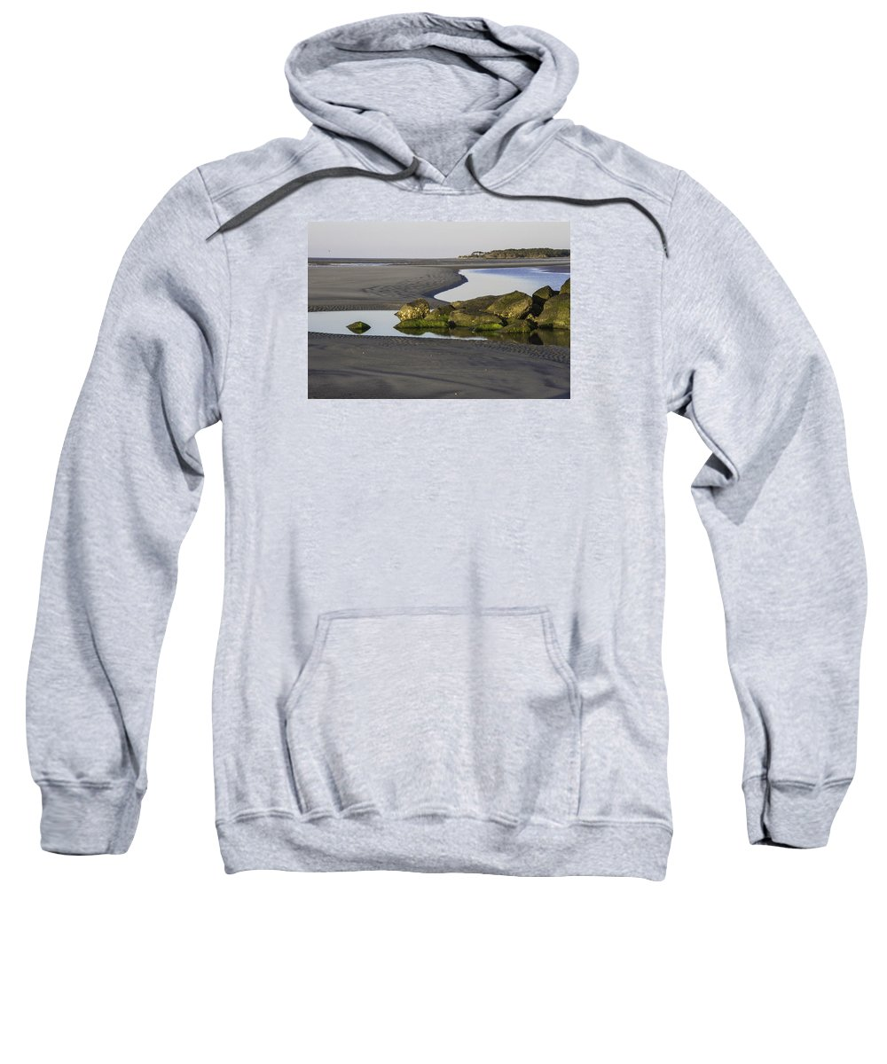 Low Tide Sweatshirt featuring the photograph Low Tide On Tybee Island by Elizabeth Eldridge