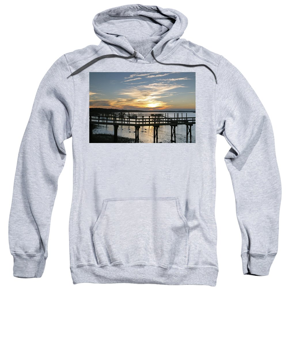 Sunset Sweatshirt featuring the photograph Low Tide by Phill Doherty
