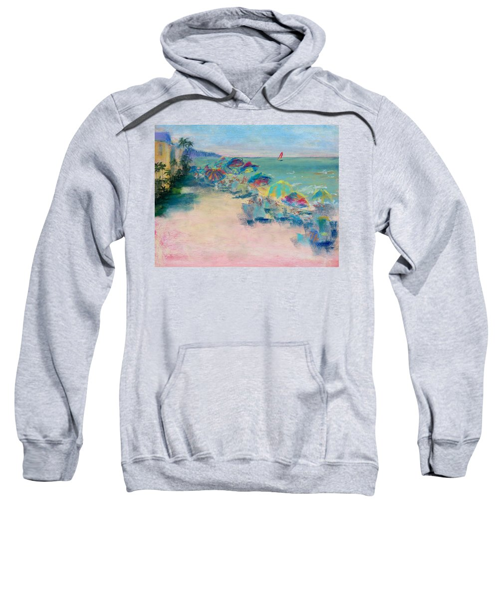 Lowdermilk Park Sweatshirt featuring the painting Lowdermilk Park by Laurie Paci