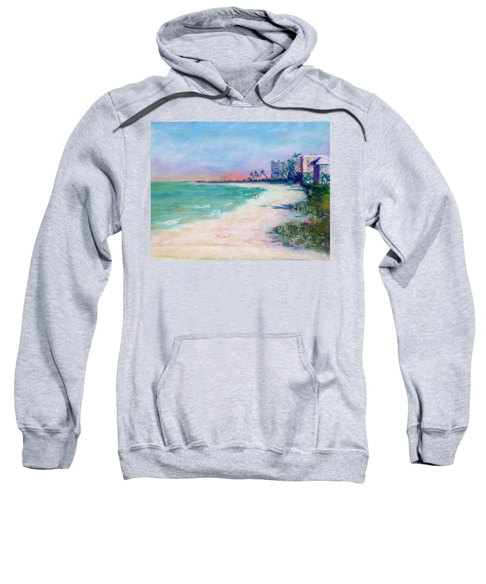 Lowdermilk Park Sweatshirt featuring the painting Lowdermilk Park North by Laurie Paci