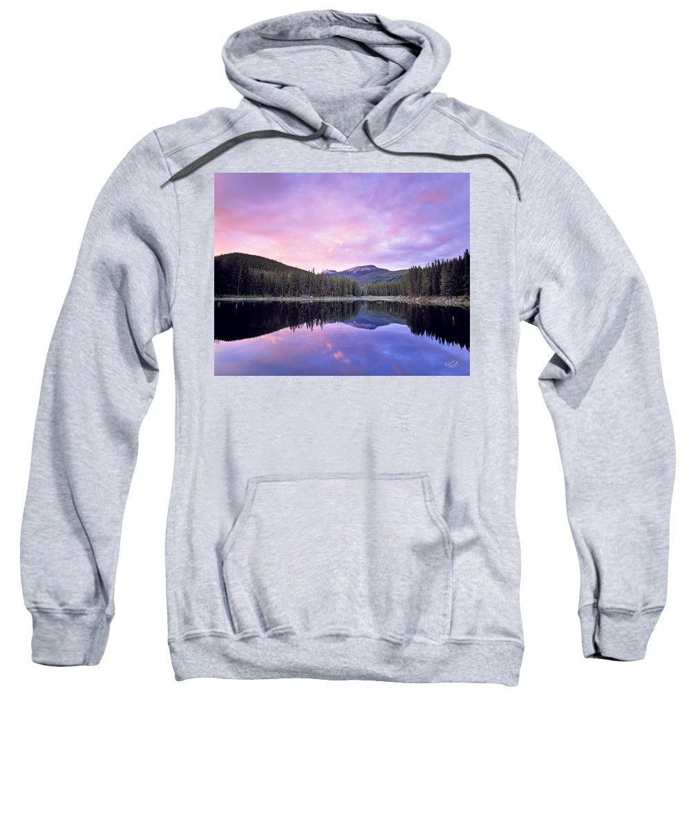 Montana Sweatshirt featuring the photograph Lower Seymor Lake by Leland D Howard