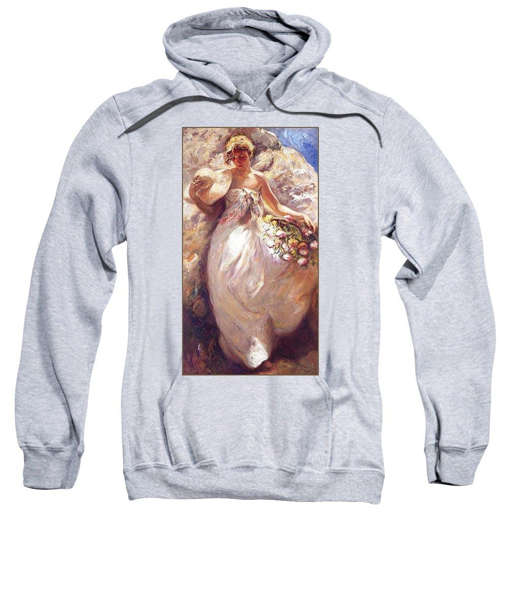 Vessel Sweatshirt featuring the digital art lrsCOL049Royo SombraLuminosa Jose Royo by Eloisa Mannion