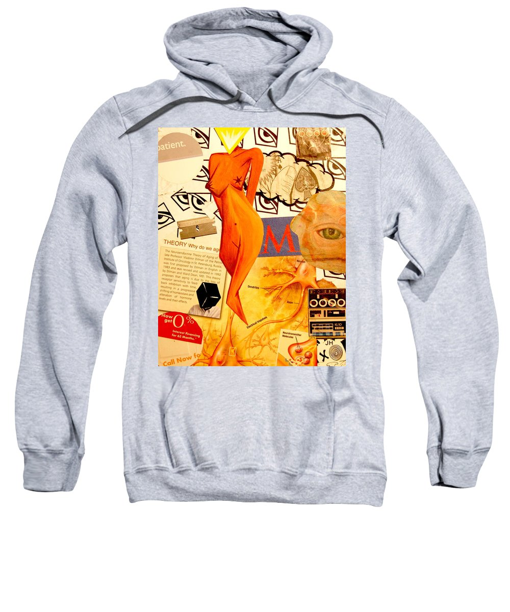 Luck Sweatshirt featuring the mixed media Luck Of The Draw by A 2 H D