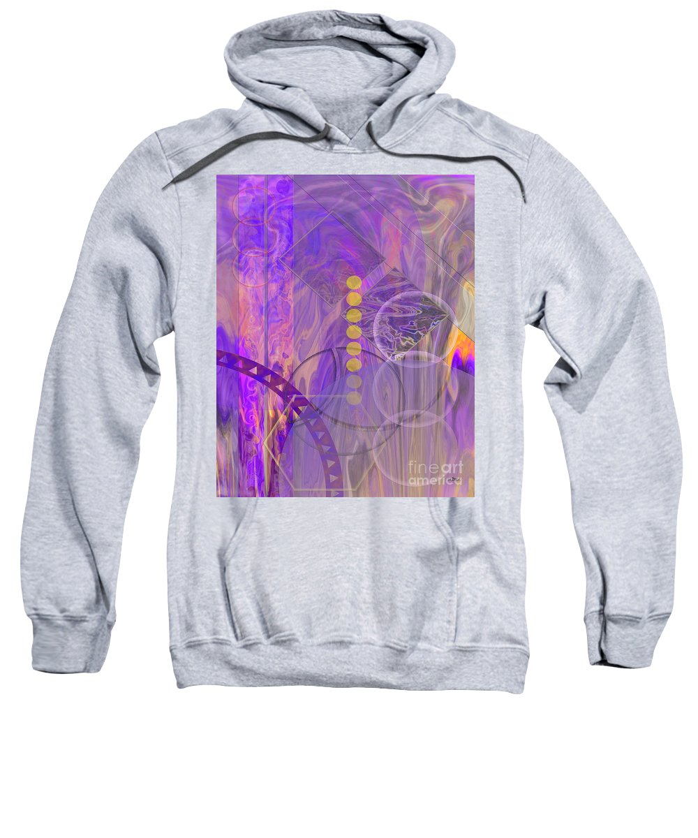 Lunar Impressions 3 Sweatshirt featuring the digital art Lunar Impressions 3 by John Beck