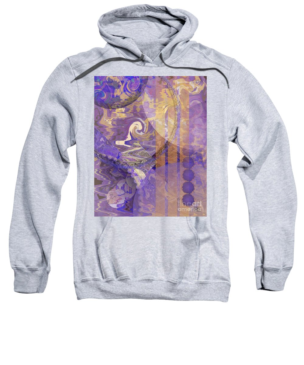 Lunar Impressions Sweatshirt featuring the digital art Lunar Impressions by John Beck