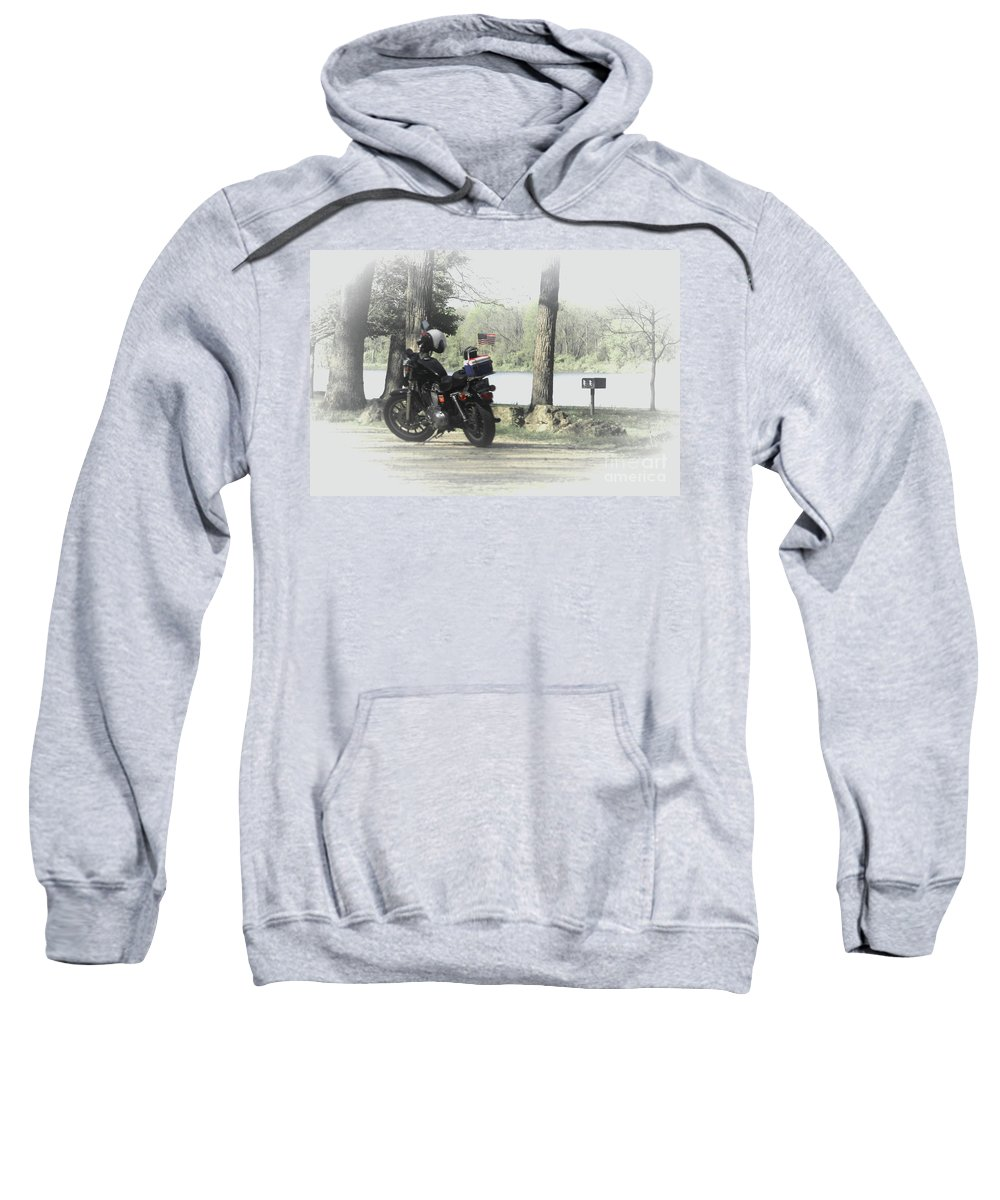 Illinois Sweatshirt featuring the photograph Luncheon At The Park by Laura Birr Brown