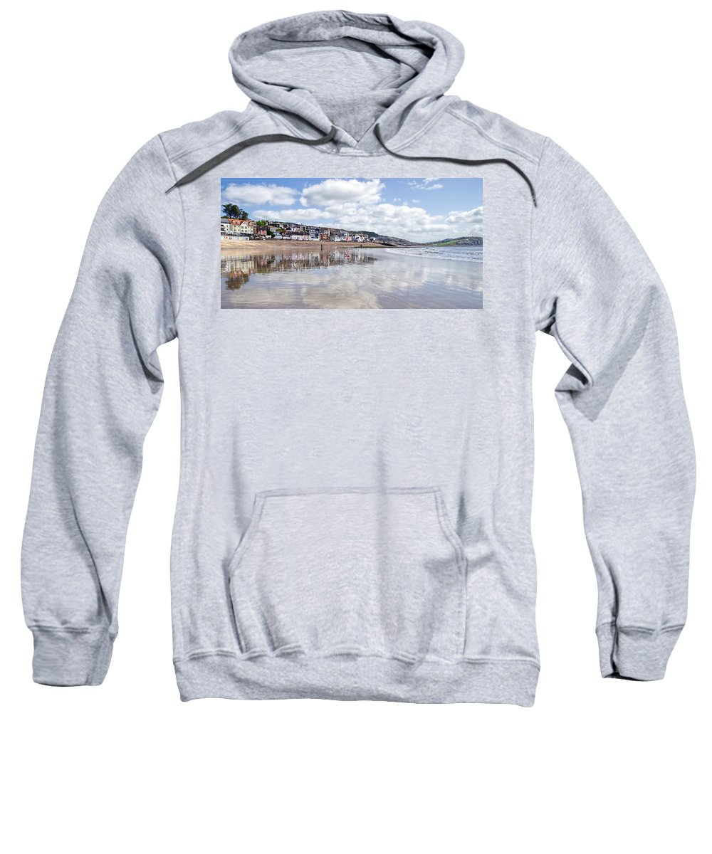 Lyme-regis Sweatshirt featuring the photograph Lyme Regis Seafront by Susie Peek