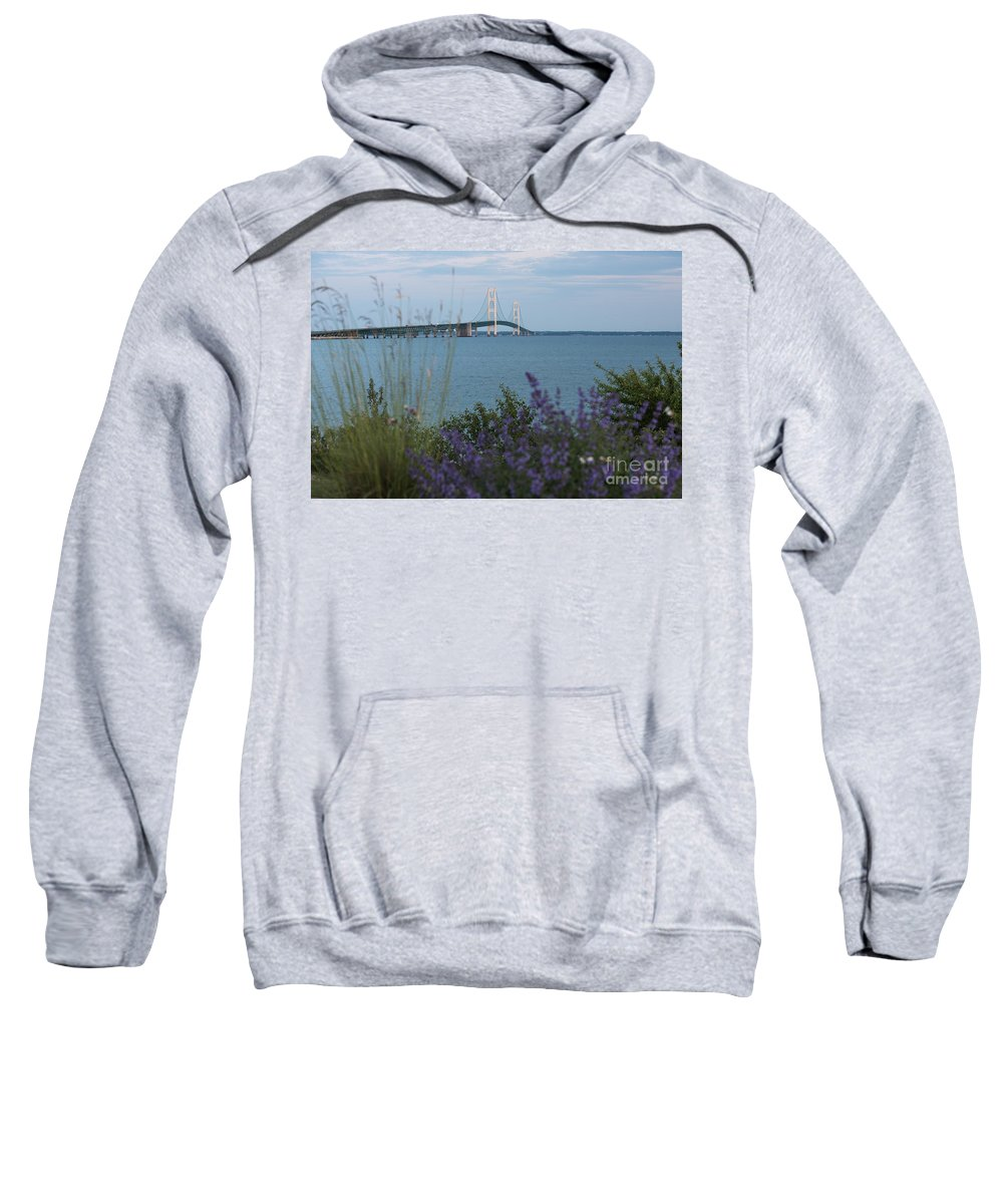 Mackinac Sweatshirt featuring the photograph Mackinac Bridge 3 by Wesley Farnsworth