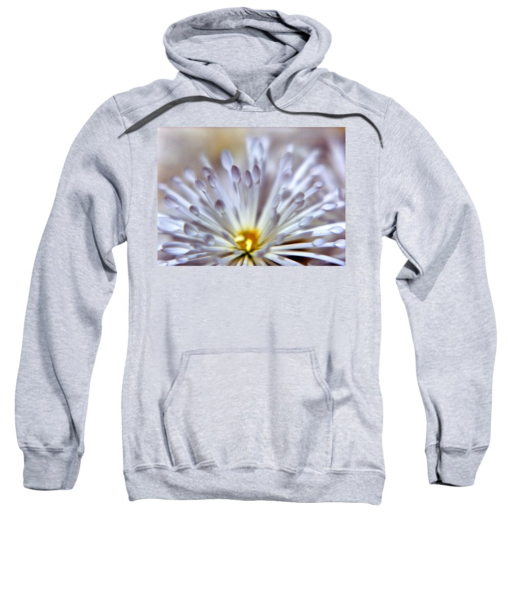 Macro Sweatshirt featuring the photograph Macro Flower 3 by Lee Santa